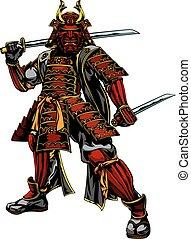 Japanese Samurai Warrior - An illustration of a Japanese...