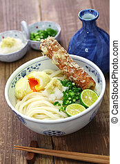 japanese Sanuki udon noodles