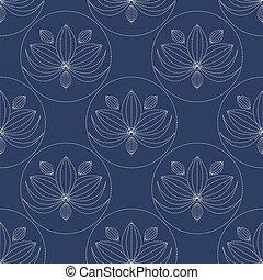 Japanese sashiko seamless pattern