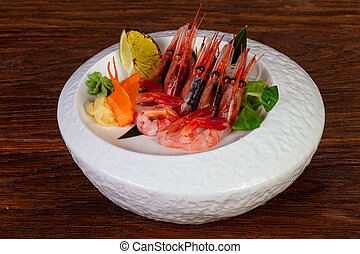 Japanese sashimi Prawn