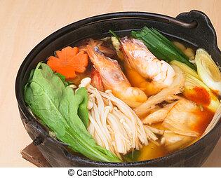 japanese seafood soup, asian cuisine.