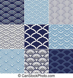 japanese seamless wave pattern - japanese seamless ocean...