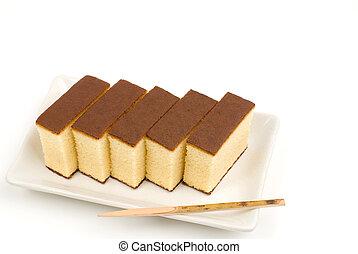 Japanese sponge cake dessert - Japanese sweet sponge cake...
