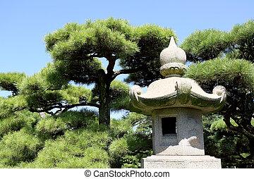 Japanese Stone Garden Lantern. Japanese Oriental Stone Garden Lantern
