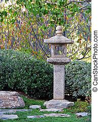 Japanese Stone Lantern In Friendship Garden Balboa Park