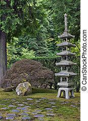 Japanese Stone Pagoda