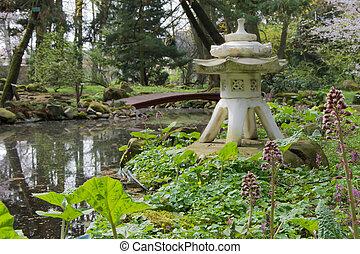 Japanese-style garden.