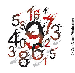 japanese style ghost fire font
