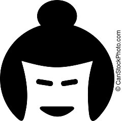 Japanese sumo face icon