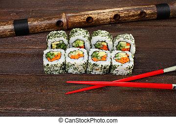 Japanese sushi roles
