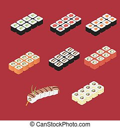 Japanese sushi roll set