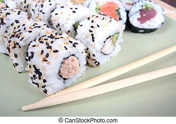 Japanese sushi, traditional japanese food