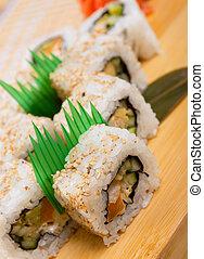 Japanese sushi . traditional japanese food
