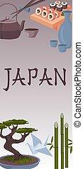 japanese symbols poster