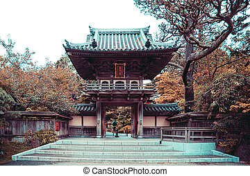 Japanese Tea Garden Entrance in San Francisco Golden Gate ...