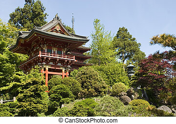 Japanese tea house - Japanese tea House in Golden Gate Park...