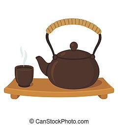 Japanese Chinese Asian Tea Set Illustration Of An Asian