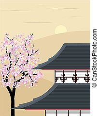 Japanese temple - A peaceful image of a japanese or oriental...