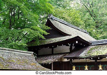 Japanese temple roof tile