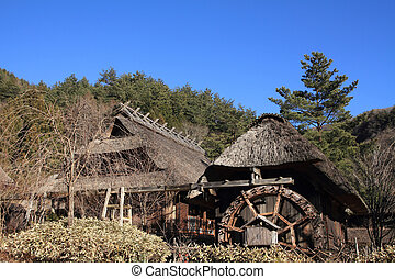 Japanese thatched roof house in Saiko