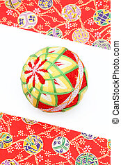 Japanese traditional ball on white backgrund