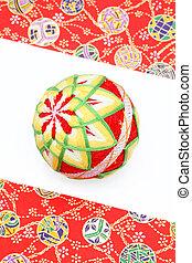 Japanese traditional ball on white backgrund