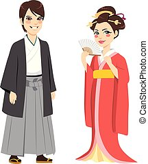 Japanese Traditional Couple
