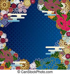 Japanese traditional frame - illustration