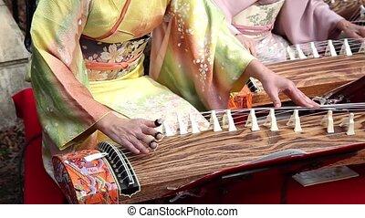 Japanese traditional instrument - KAGAWA, JAPAN - NOVEMBER...