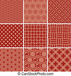Japanese Traditional red pattern
