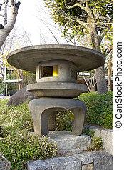 Japanese traditional stone lantern.