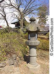 Japanese traditional stone lantern