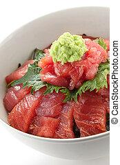 japanese tuna rice bowl