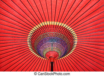 Japanese umbrella - Japanese traditional red paper umbrella ...