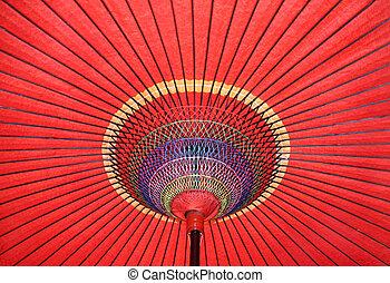Japanese umbrella - Japanese traditional red paper umbrella...