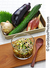 Japanese vegan cuisine, Dashi is Japanese chopped vegetable...