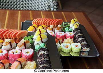 Japanese vegetable sushi food