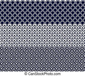 japanese wave pattern vector