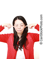Japanese woman suffers from noise