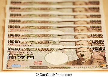 Japanese yen bills currency