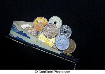 Japanese yen, coin, money