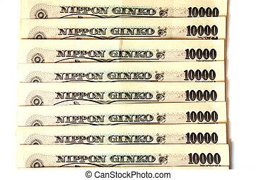 Japanese banknotes ten thosand yen
