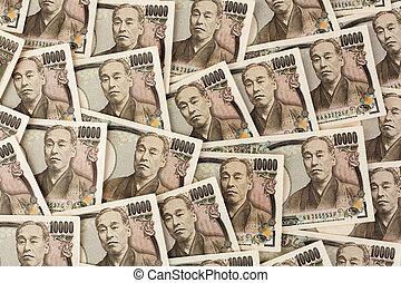 Japanese yen notes. Money from Japan