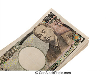 Japanese yen notes. Money from Japan