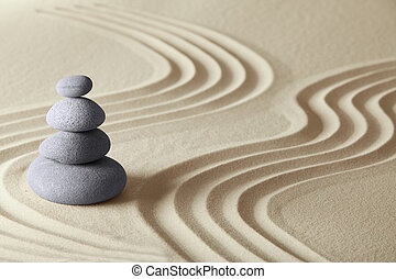 japanese zen garden meditation stone concept for balance harmony and relaxation