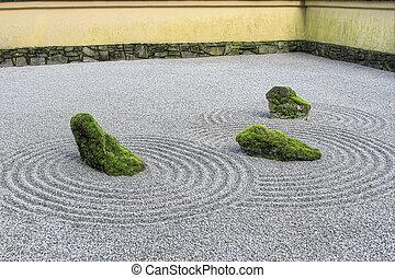 Japanese Zen Sand Garden