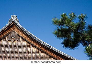 Gitter holz dach bild dach gitter holz schwarz for Japanisches dach