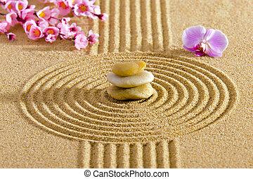 japanisches , zen garten, mit, feng shui