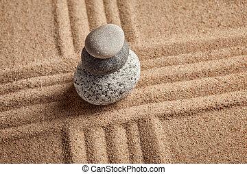 japanisches , zen, steingarten