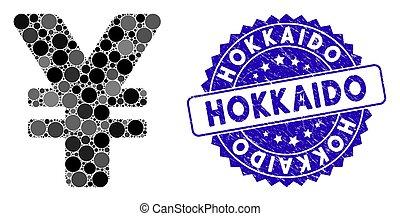 japanse yen, textured, pictogram, hokkaido, mozaïek,...